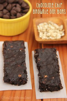 Chocolate Chip Brownie & Oar Bars -- a copycat of Trader Joe's that's fudgier and has more than twice the protein!
