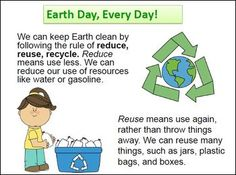 Free! An Earth Day Mini-Book quick introduction to Earth Day and the concepts of recycle, reduce, and reuse.