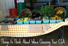 Choosing Your CSA