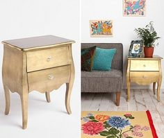 Urban Outfitters' Brass Leaf Side Table   @House & Home
