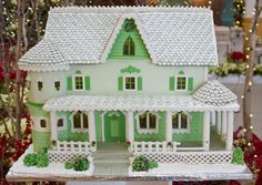 green gingerbread house