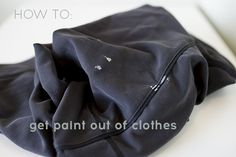 Get dried paint out of clothes with Rubbing Alcohol