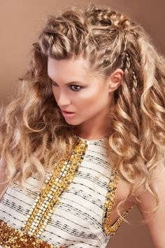 Braids For Summer curly hairstyles, layered hairstyles, summer hair, long hair, curls, braids, beauti, hair style, blonde hairstyles