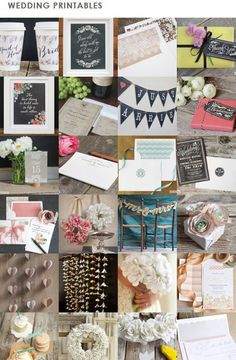 All of our free #wedding printables in 1 place!