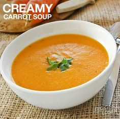 BiggestLoser #KidFriendly #Recipe: Creamy Carrot Soup