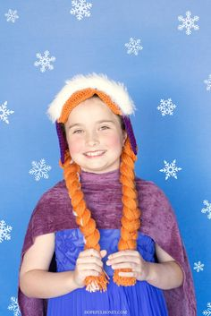 Frozen Princess Anna Inspired Hat Crochet Pattern