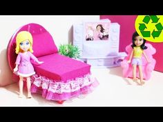 Craft: How to make a mini bed for your mini doll - EASY PEASY LEMON SQUEZEE