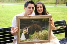 Cute anniversary tradition, take a picture of holding last years picture