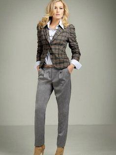 Короткие классические брюки с чем носить