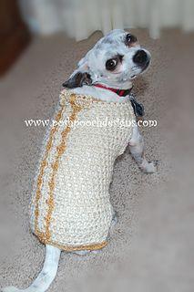 princeprincess dog, dog sweaters, crochet pattern