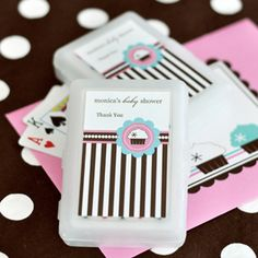 Personalized Playing Cards - Cupcake Party at WeddingFavors.org