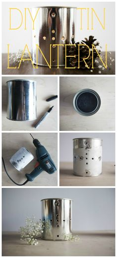 Step By Step : DIY  Tin Lantern