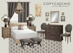 Copy Cat Chic: Saturday Shopping | Cost Plus World Market | A neutral, rustic master bedroom design using #CostPlus #WorldMarket items for $3592