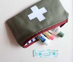 Unisex Olive Green Military First Aid Pouch