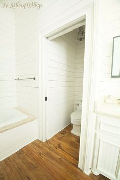 Traditional Bathroom | Pocket Door | The Lettered Cottage