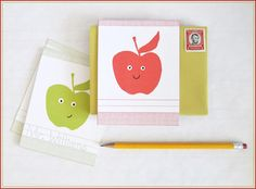 Printable Apple Note Flats from Creature Comforts