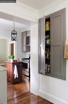 kitchens, cabinets, cottag, idea, pantries, door, kitchen pantri, hous, island