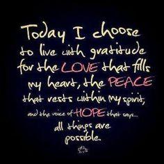 Live with gratitude
