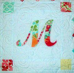 My Quilt Diet...: Patchwork Monogram Tutorial