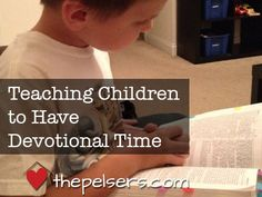 Tips for teaching your kids to have their own devotional time and take responsibility for their own spiritual life.
