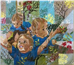 "My Big Wide World, 62 x 55"",  by Ruth de Vos. 2010 Houston International Quilt Festival."