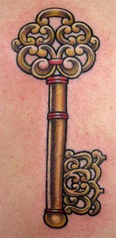 Nice skeleton key tatoo 004