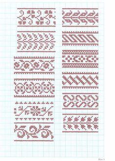 borduren, embroidery patterns, randj, embroideri pattern, crossstitch