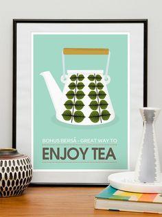 Teapot print with Berså