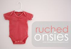 delia creates: DIY Ruched Onsie - 5 Minute Tutorial