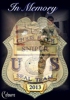 In honor of Chris Kyle navy seal sniper killed in Texas yesterday..Rest in Peace soldier