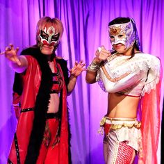 Japanese Female Wrestlers Leon and Ray