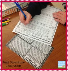 Informational Text Structures.  Using Task Cards to meet Common Core Standards.