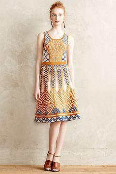 Taj Flared Dress #Anthropologie #anthrofave