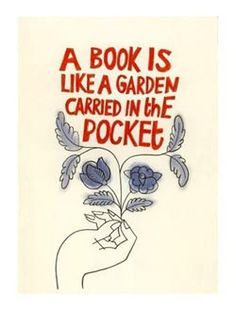 A Book is Like a Garden, #reading, #books