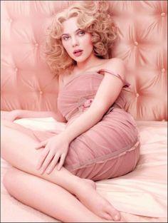 Scarlett Johannson in pink