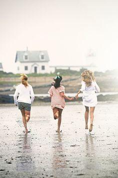 //running on the beach