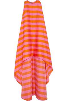Emilia Wickstead | Mariee striped cotton-blend twill gown | NET-A-PORTER.COM