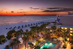 The view from the Trade Winds hotel on St. Pete beach in Florida.