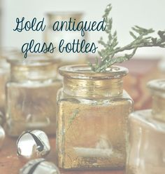 Gold antiqued glass