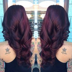 Level 2 dark brown / color correction and toned to a level 6 violet red.