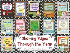 Love the idea of Sharing Pages to be made into a class book. Can assign for homework or do during work on writing at Daily 5 throughout the week?