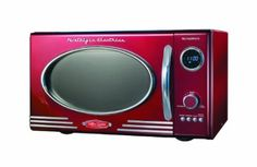 Amazon.com: Nostalgia Electrics RMO-400RED Retro Series .9 CF Microwave Oven, Red: Kitchen & Dining