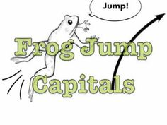 Frog Jump Capitals- Handwriting without tears