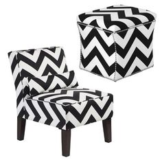 Z Gallerie accent chair and storage ottoman