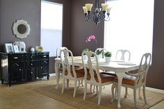 painted furniture wall colors, dining rooms, paint tips, idea, dine room, dine tabl, dining room tables, design, dining tables