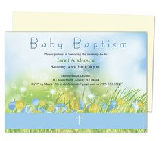 Glitz Baby Baptism Invitation Templates edits easily in Word, OpenOffice, Publisher, Apple iWork Pages. Print yourself or take anywhere locally.