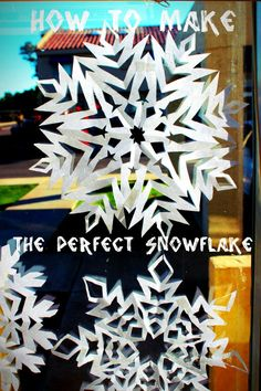 the trick to making the perfect snowflake