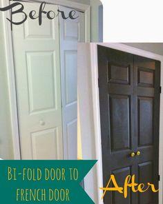 DIY Turn Bi Folding Doors to French Doors