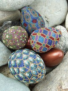 Beaded Eggs. How will you decorate your Easter Eggs?