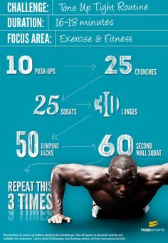 Try the Tone Up Tight Routine for a sweat-inducing, pulse raising workout! #fitness #motivation #exercise #workout #abs
